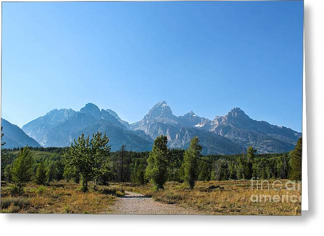 Grand Teton Mountains I Greeting Card by Kathleen Garman