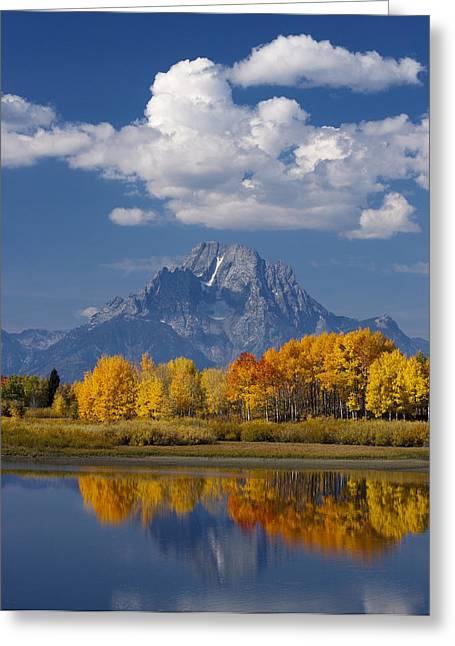 Moran Greeting Cards - Grand Teton XII Greeting Card by John Blumenkamp