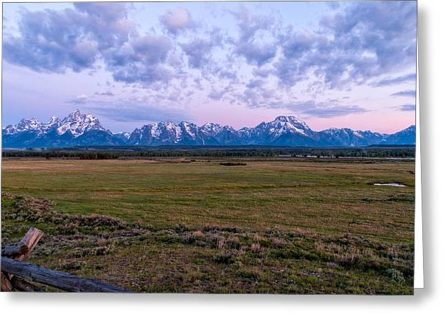 Rocky Mountain National Park Posters Greeting Cards - Grand Tetons Before Sunrise 2 Greeting Card by Brian Harig
