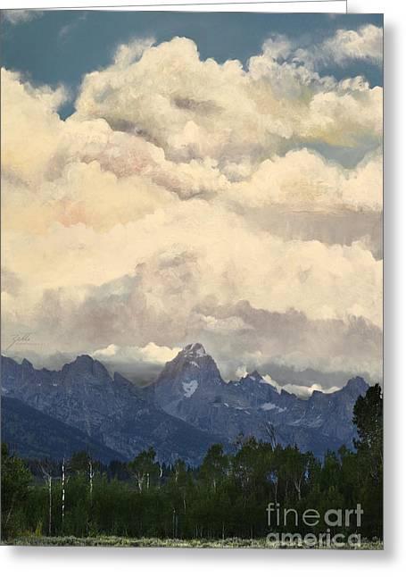 Grand Tetons  Sky Greeting Card by Suzette Kallen