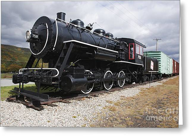 New England Village Greeting Cards - Grand Trunk Railroad - Gorham New Hampshire USA Greeting Card by Erin Paul Donovan