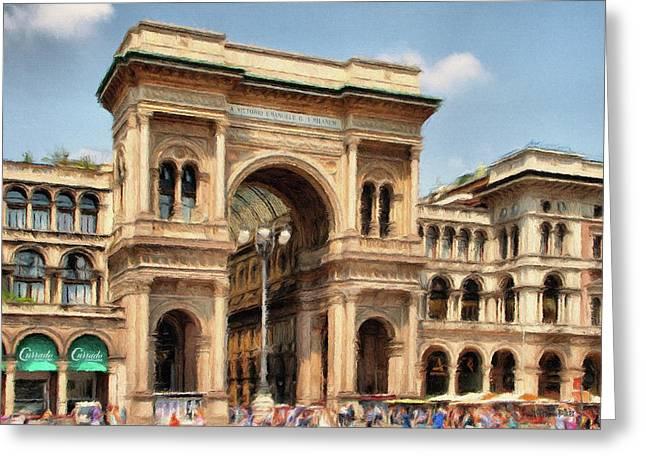 Italian Shopping Greeting Cards - Grande Ingresso Greeting Card by Jeff Kolker