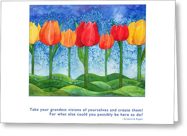 Metaphysics Paintings Greeting Cards - Grandest Visions Greeting Card by Kristen Fox