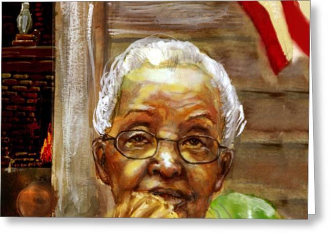 Grandma for Obama Greeting Card by GARY WILLIAMS