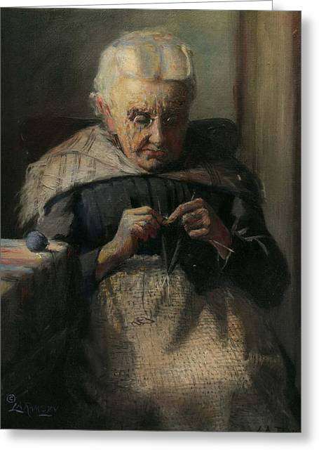 Grandma Greeting Card by Lewis A Ramsey