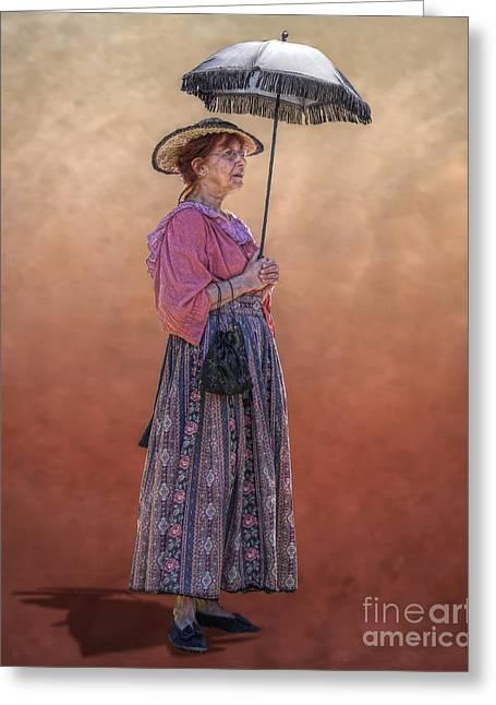 """war Women"" Greeting Cards - Grandma with Umbrella Greeting Card by Randy Steele"
