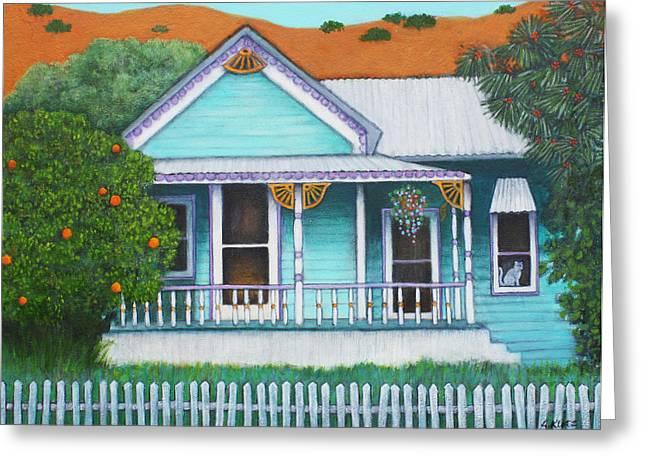 Bisbee Greeting Cards - Grandmas House  Greeting Card by Lorraine Klotz