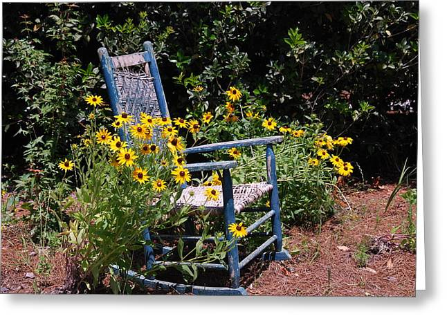 Rocking Chairs Greeting Cards - Grandmas rocking chair Greeting Card by Susanne Van Hulst