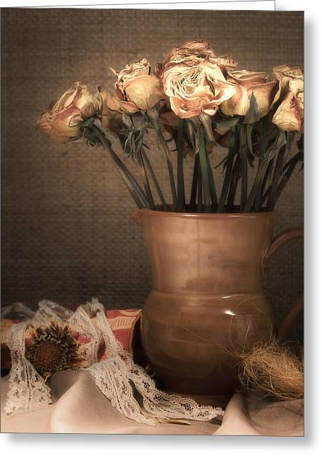 Fine Art Flower Photography Greeting Cards - Grandmas Roses Greeting Card by Wim Lanclus