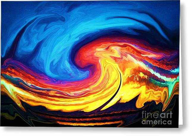 The Big Bang Greeting Cards - Grandmother Tiamat Greeting Card by Daniele Smith
