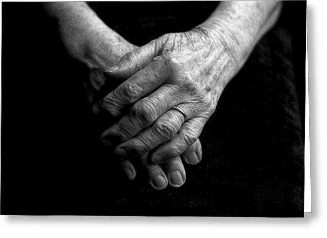 Grandmother Greeting Cards - Grandmothers Hands Greeting Card by Todd Fox