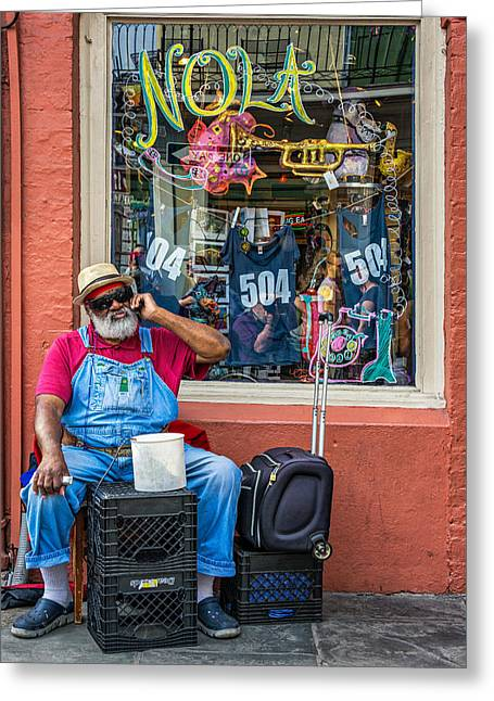 Nola Photographs Greeting Cards - Grandpa Elliott Small Greeting Card by Steve Harrington