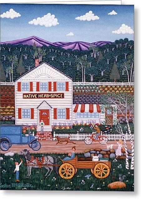 Farm Stand Greeting Cards - GrandPa Mooneys Farm Greeting Card by Joshua Mac Allistar