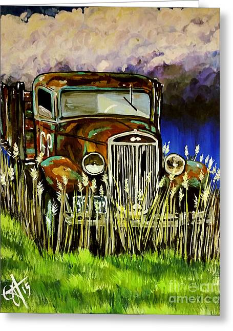 Farmers Field Greeting Cards - Grandpas Truck Greeting Card by Jackie Carpenter