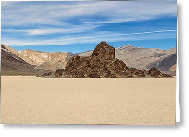Dry Lake Digital Art Greeting Cards - Grandstand Death Valley Greeting Card by Jerry Fornarotto