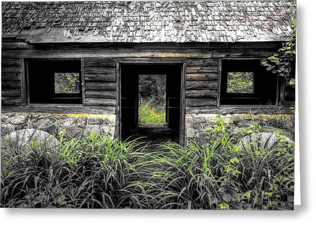 Old Maine Houses Greeting Cards - Granite House Greeting Card by John Meader
