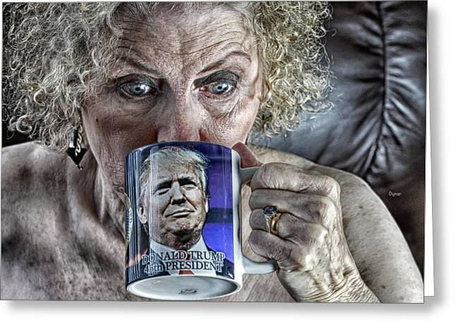 Grannies For Trump  Greeting Card by Steven Digman