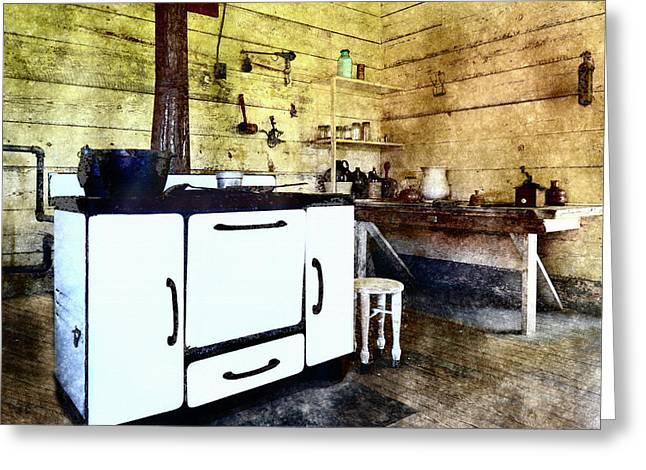 Grannies Kitchen Greeting Card by Susan Leggett