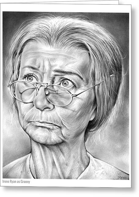 Granny Greeting Card by Greg Joens