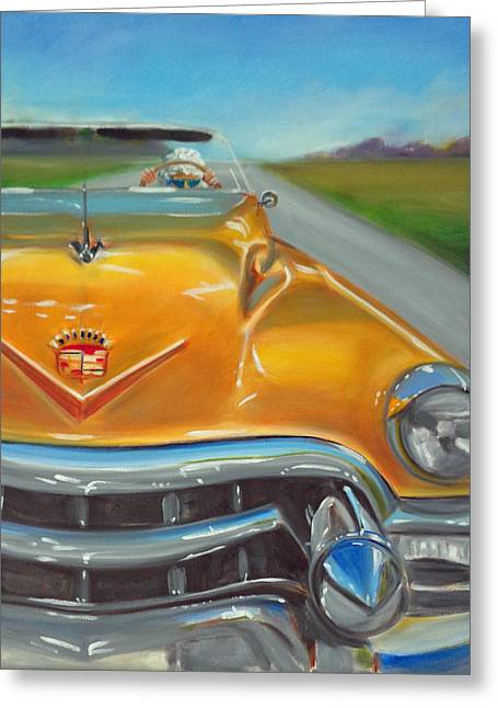 Caddy Paintings Greeting Cards - Granny was a Rebel Greeting Card by Kaytee Esser