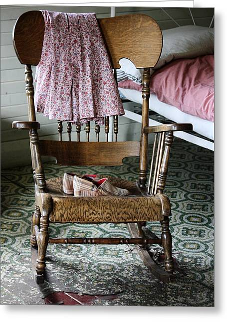 Old Dresses Greeting Cards - Grannys Stories  Greeting Card by Jerry Cordeiro