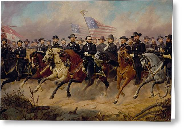 Is Greeting Cards - Grant and His Generals Greeting Card by War Is Hell Store