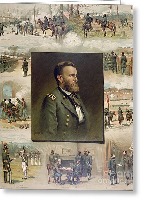 Grant From West Point To Appomattox Greeting Card by Thure de Thulstrup