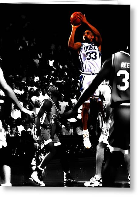 Laettner Greeting Cards - Grant Hill 2b Greeting Card by Brian Reaves