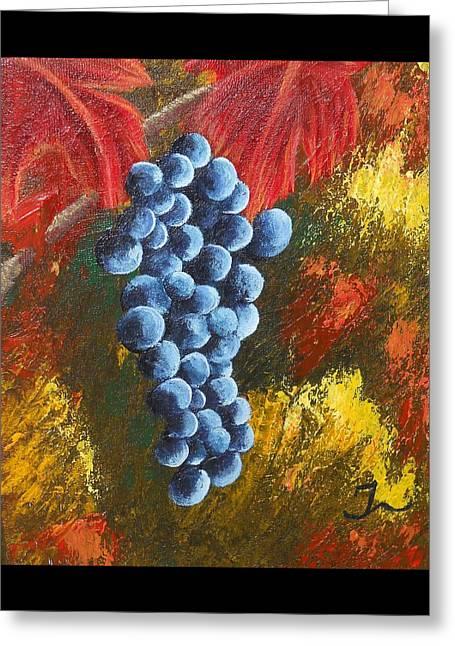 Grape Harvest Greeting Card by Christina Burke-Gagnon