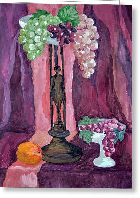 Grape Greeting Card by Veronica Petrova