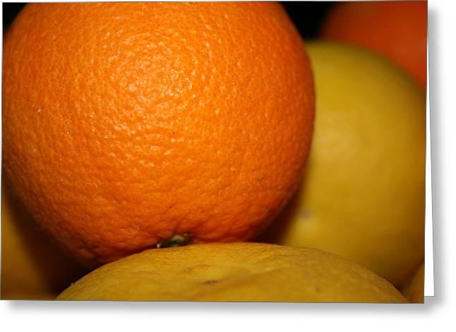 Grapefruit Orange Greeting Card by Joshua Sunday