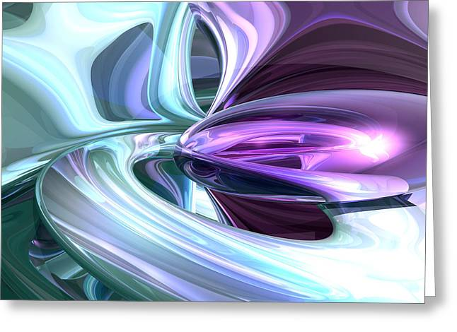 Alexander Butler Greeting Cards - Grapes and Cream Abstract Greeting Card by Alexander Butler