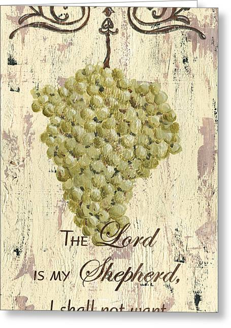 Grapes And Grace 2 Greeting Card by Debbie DeWitt