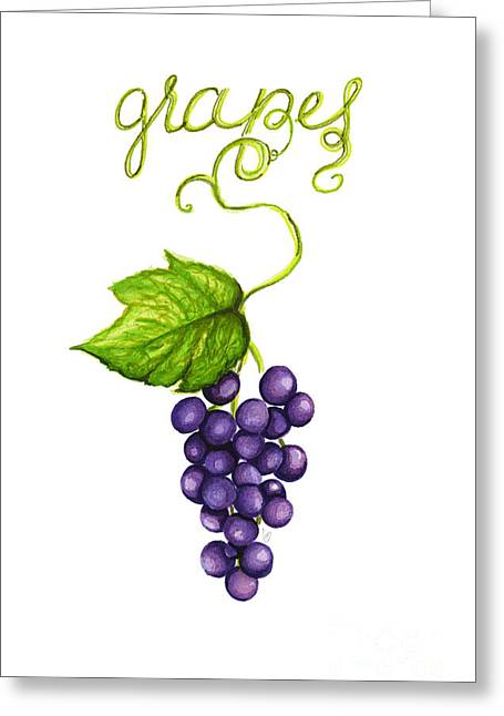 Grapes Greeting Card by Cindy Garber Iverson