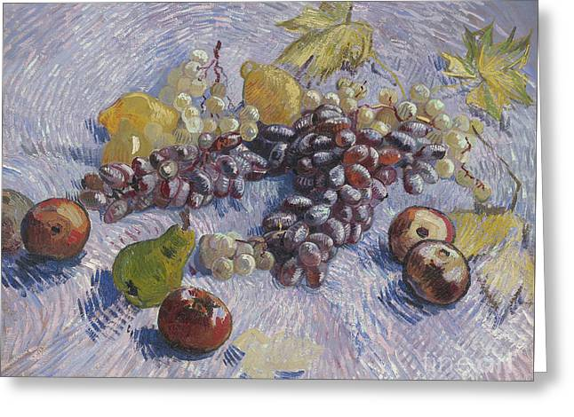 Grapes, Lemons, Pears, And Apples Greeting Card by Vincent Van Gogh
