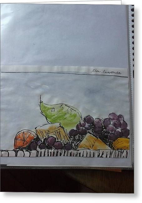 Purple Grapes Tapestries - Textiles Greeting Cards - Grapes Greeting Card by Lisa LaMonica