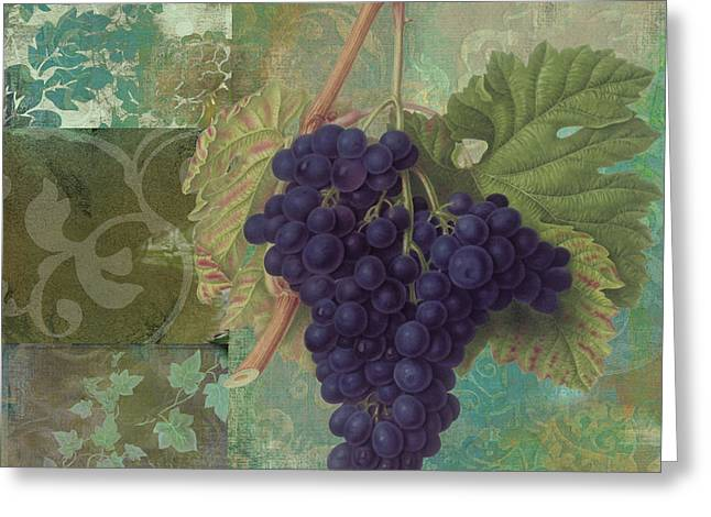 Purple Grapes Greeting Cards - Grapes Margaux Greeting Card by Mindy Sommers