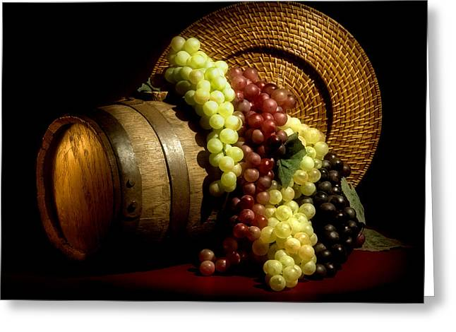 White Grapes Greeting Cards - Grapes of Wine Greeting Card by Tom Mc Nemar