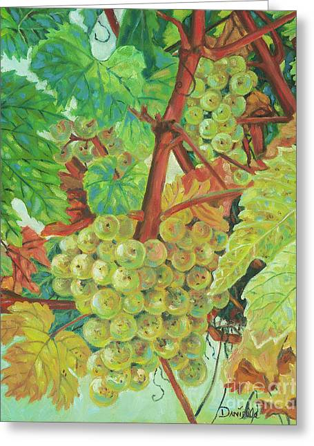 Grapes Provencale Greeting Card by Danielle Perry
