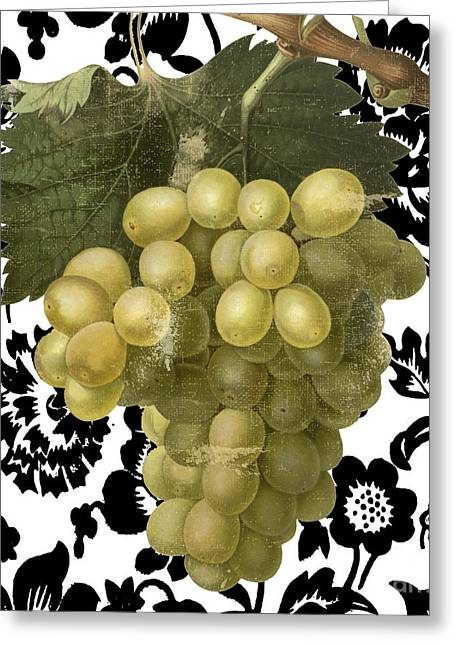 Grapes Suzette II Greeting Card by Mindy Sommers