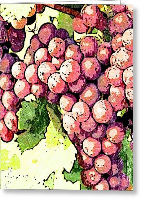 Grapevine Drawings Greeting Cards - Grapevine Greeting Card by Blackwater Studio