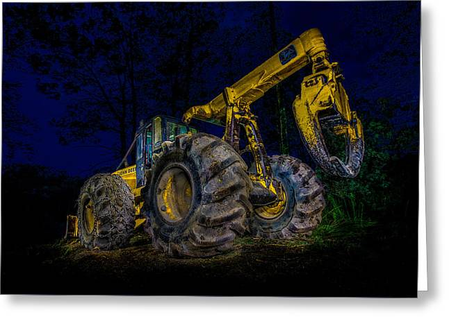 Logger Greeting Cards - Grapple Skidder Greeting Card by Paul Freidlund