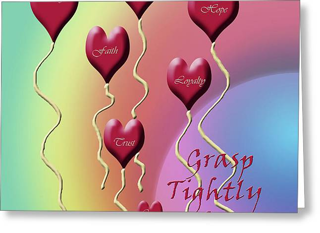 Grasp Tightly for Eternity Greeting Card by Cathy  Beharriell
