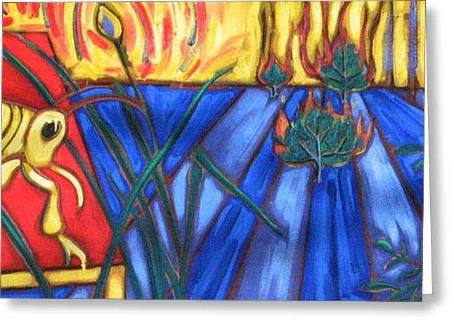 Grasshopper Paintings Greeting Cards - Grasshopper Greeting Card by Rollin Kocsis