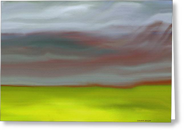 Abstract Expressionist Greeting Cards - Grasslands Greeting Card by Lenore Senior