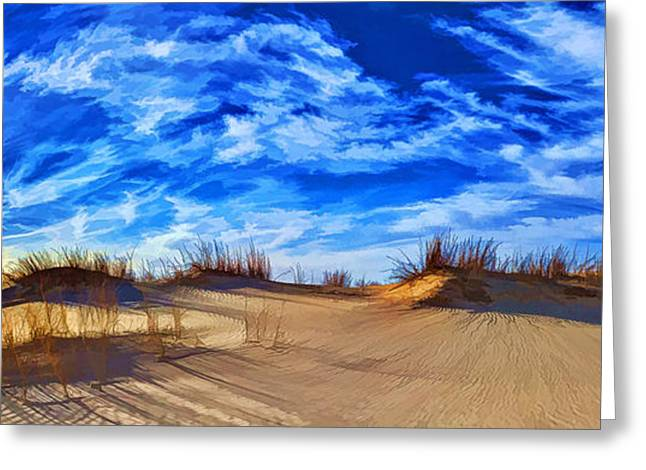 Large Sand Dunes Greeting Cards - Grassy Dunes at Sandhills SP Greeting Card by Bill Caldwell -        ABeautifulSky Photography