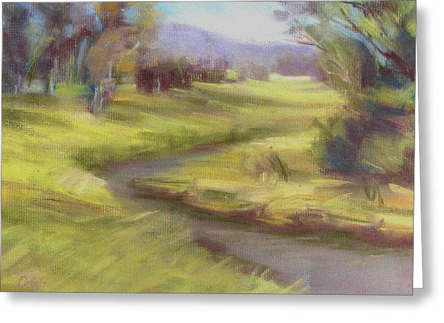 Brook Pastels Greeting Cards - Grassy Meadow Greeting Card by Patricia Seitz