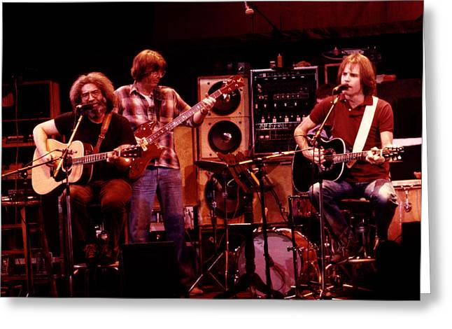 Jerry Garcia Greeting Cards - Grateful Dead Acoustic 1980 Greeting Card by Steven Sachs
