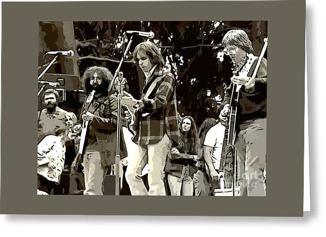 Grateful Dead In Concert Greeting Card by John Malone