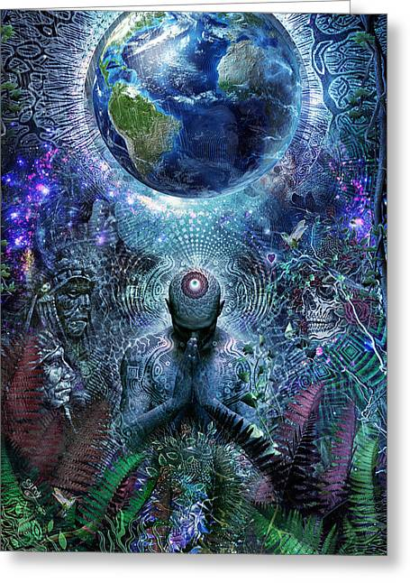 Ritual Greeting Cards - Gratitude For The Earth And Sky Greeting Card by Cameron Gray